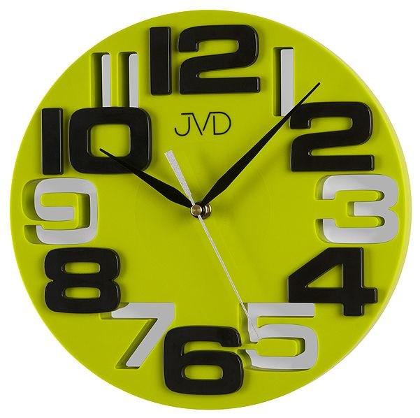 Nástěnné hodiny JVD H107.3 - Zeleno- žlutá