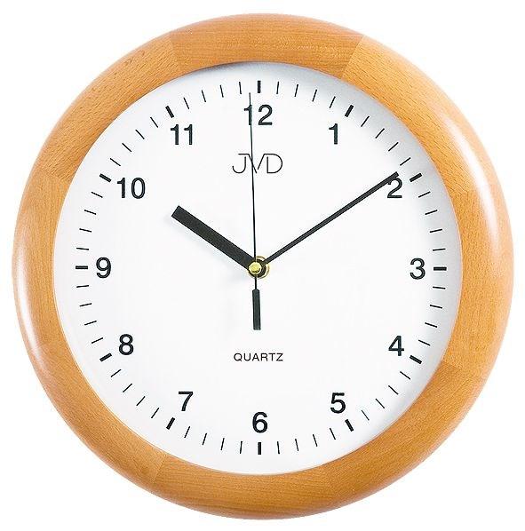 Nástěnné hodiny JVD quartz N2341/68 - Světle hnědá