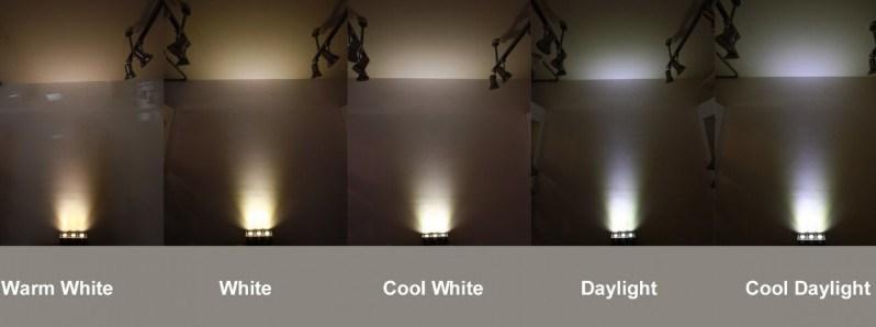 Označování barvy světla LED žárovek