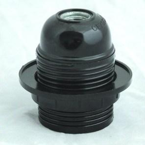 Objímka plastová černá HL 583 E27