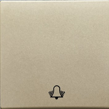 """Kryt (metalická béžová) + strojek pro tlačítko """"zvonek"""" Visage Deluxe"""