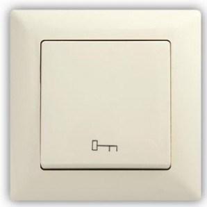 Béžové tlačítko s piktogramem klíče