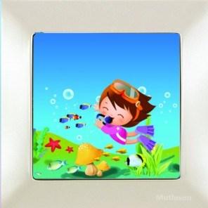 Dětský vypínač – potápěč bílá