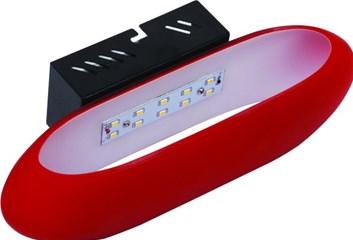 LED nástěnné svítidlo HL 855L 5W červená