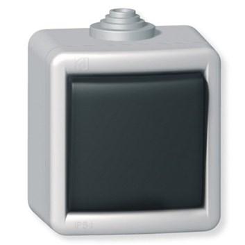 Křížový vypínač kovový na povrch 10AX 250V~ IP55