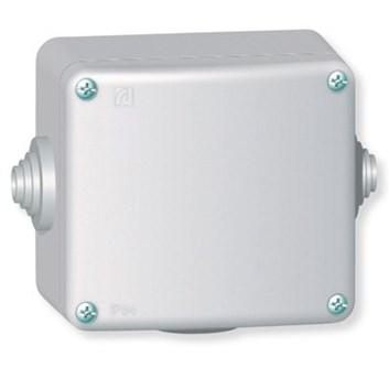 Rozvodná krabice 500V~ kovová na povrch 80×70 IP55 3 vývodky