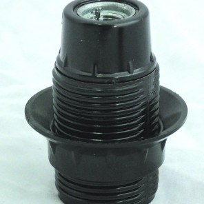 Objímka plastová černá HL 581 E14