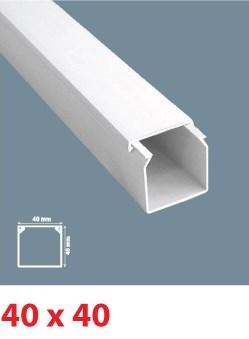 Instalační lišta PVC 40×40, délka 2 m