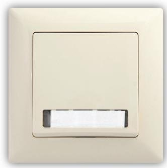 Zvonkové tlačítko s podsvícením-VISAGE Ivory béžová