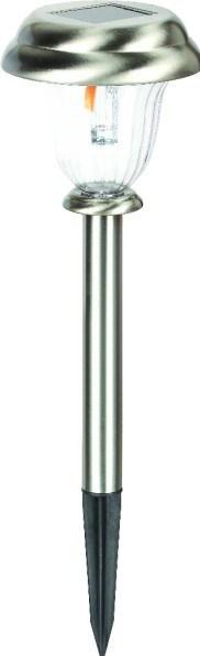 Solární svítidlo HL 0780060001 0,06W LED chróm