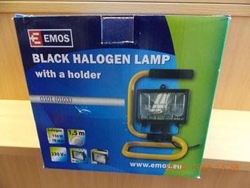 Reflektor 150W bez PIR senzoru černý s držákem