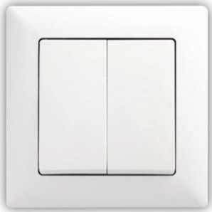 Sériový vypínač č. 5 bílý