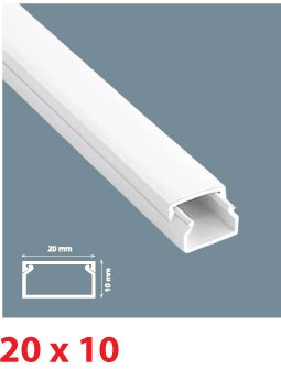 Instalační lišta PVC 20×10, délka 2 m