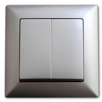 Vypínač č. 5B (6+6) stříbrná Visage Ambience