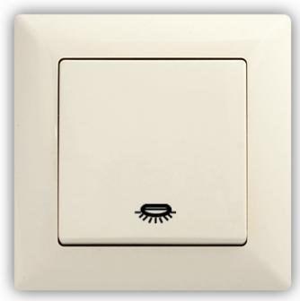 Béžové tlačítko s piktogramem světla