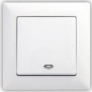 Bílé tlačítko s piktogramem světla