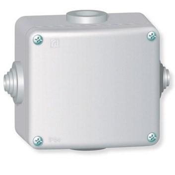 Rozvodná krabice 500V~ kovová na povrch 80×70 IP55 4 vývodky