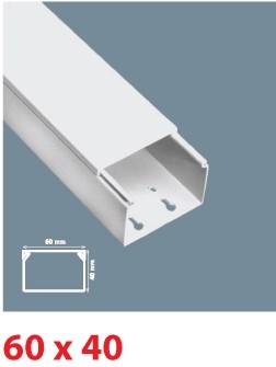 Instalační lišta PVC 60×40, délka 2 m