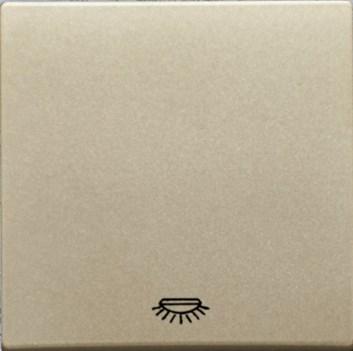 """Kryt (metalická béžová) + strojek pro vypínač s piktogramem """"světlo"""" Visage Deluxe"""