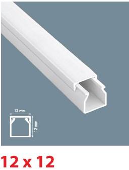 Instalační lišta PVC 12×12, délka 2 m