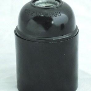 Objímka plastová černá HL 582 E27