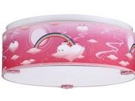 Růžový dětský LED lustr