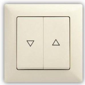 Béžové tlačítko na ovládání rolet