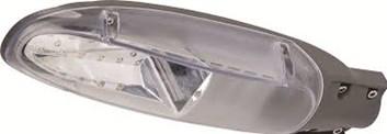 LED osvětlení HL195L pouliční 26W tmavě šedá+průhledná