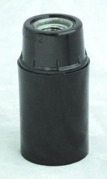 Objímka plastová černá HL 580 E14