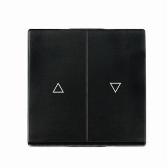 Kryt (černá) + strojek pro vypínač na ovládání žaluzií Visage Deluxe