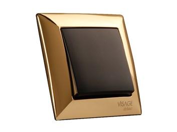 Kryt (černá) + strojek pro vypínač č.1,6,7 Visage Deluxe