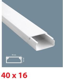 Instalační lišta PVC 40×16, délka 2 m