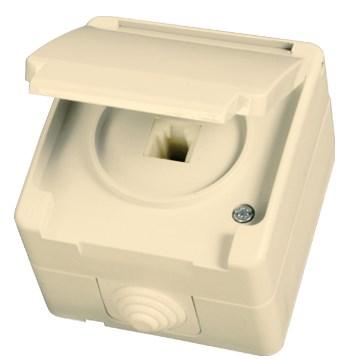 Telefonní zásuvka (RJ11) béžová Waterproof