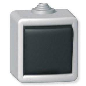 Jednopólový vypínač kovový na povrch 10AX 250V~ IP55