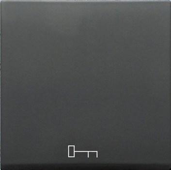 """Kryt (černá) + strojek pro tlačítko s piktogramem """"dveře"""" Visage Deluxe"""