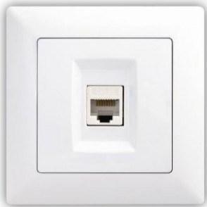 Datová zásuvka Cat5 - VISAGE simple bílá