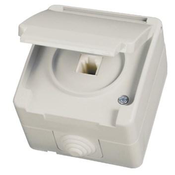Telefonní zásuvka (RJ11) šedá Waterproof