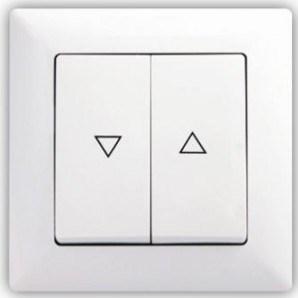 Bílé tlačítko na ovládání rolet