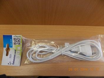 Flexo šňůra PVC 2x0,5mm 2m bílá
