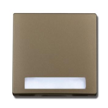 """Kryt (metalická béžová) + strojek pro tlačítko """"zvonek"""" s podsvícením Visage Deluxe"""