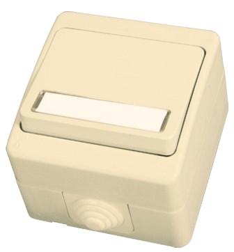 Zvonkové tlačítko s kontrolkou béžová Waterproof