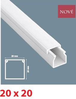 Instalační lišta PVC 20×20, délka 2 m