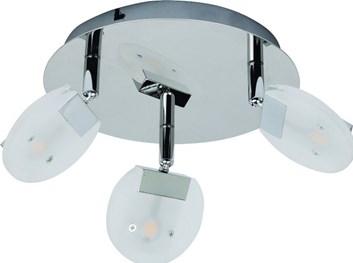 Svítidlo HL 7160L stropní dekorativní 3x5W 220-240V chróm