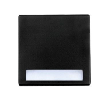 """Kryt (černá) + strojek pro tlačítko """"zvonek"""" s podsvícením Visage Deluxe"""