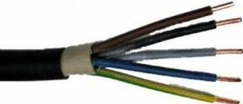 Kabel pevný Cu CYKY-J 5x1,5 buben