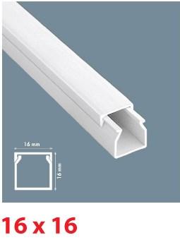 Instalační lišta PVC 16×16, délka 2 m