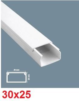 Instalační lišta PVC 30×25, délka 2 m