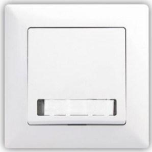 Bílé zvonkové tlačítko s podsvícením