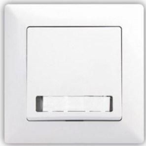 Zvonkové tlačítko s podsvícením – VISAGE simple bílá