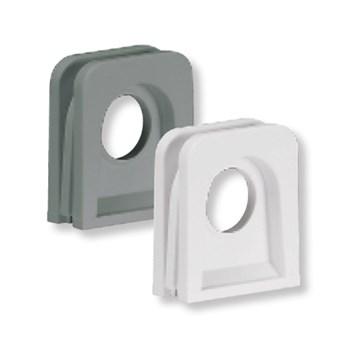 Dvojitá kablová vývodka pro vertikální spojování krabic bílá